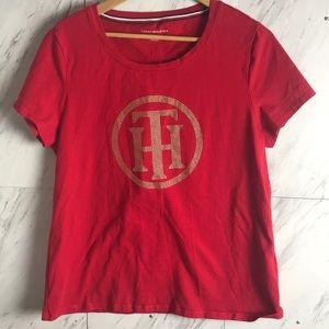 Tommy Hilfiger | Embellished T-shirt | Size XL |